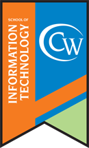 The College of Westchester School of Information Technology flag banner